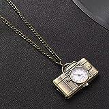 RTEAQ Schönes Halsketten Schmuck Taschenuhr Bronze Vintage Kamera Stil Uhr Männer Anhänger...