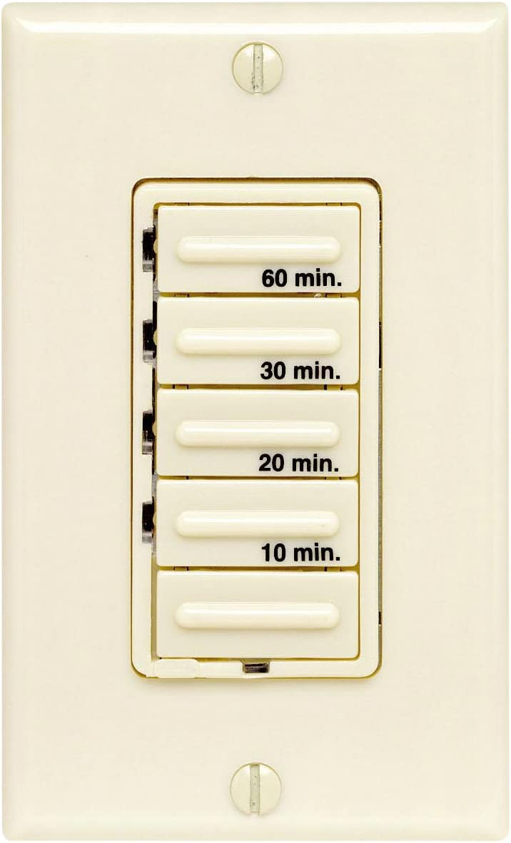 Leviton 155M I Decora 155W/155A 15HP Four Preset 150 155 15 15 Minutes,  Electronic, Incandescent/Inductive Timer Switch, Single Pole, Ivory