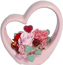 パラボッセ プリザーブドフラワー ハートフル 幅16cm x 奥行8cm x 高さ17cm preserved flowers gift