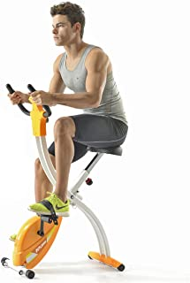 Fitleader Indoor Teenager Exercise Bike GYM Recumbent Compact & Stable Folding Cycling Stationary Cardio Upright Bike Frame Design Easy Storage