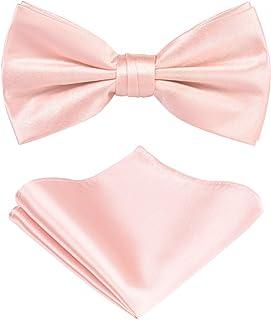 کراوات کراوات قبل از اتصال در جعبه هدیه: مجموعه کراوات: کراوات رنگ جامد کراوات ، مربع جیب ، لمس ابریشمی ساتن میکرو ساتن ، جعبه هدیه