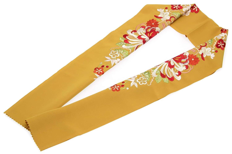 (ソウビエン) 半衿 菊 松竹梅 刺繍 新合繊 成人式 振袖向き 卒業式 女性用 レディース