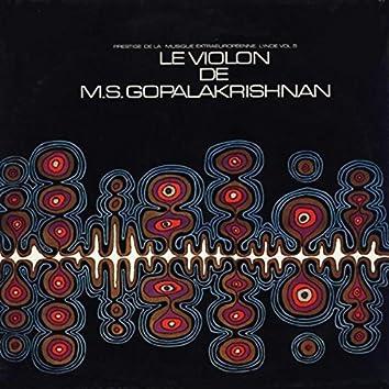 Le Violon De M.S. Gopalakrishnan
