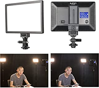 SUPON LED-L122T RA CRI95 Super Slim LCD Display Lighting Panel,Portable Dimmable 3300K-5600K LED Video Light Compatible for Canon,Nikon,Pentax,Fuji,Sony,Olympus DSLR Cameras,DV Camcorder