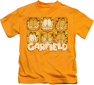 Garfield Many Faces Unisex Youth Juvenile T-Shirt for Girls and Boys