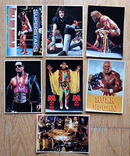 WWF Wrestling Postkarten 6 verschiedene