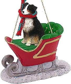 Conversation Concepts Australian Shepherd Tricolor Sleigh Ride Ornament