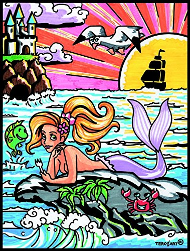 Terciart Mermaid Mermaid zum Ausmalen 38 x 29 cm