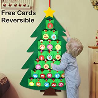 Felt Christmas Tree Countdown Calendar