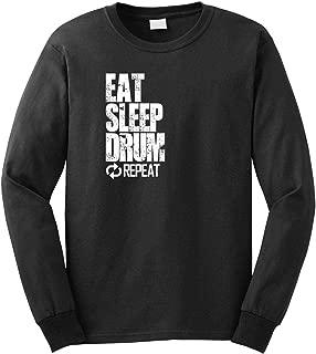 Eat Sleep Drum Repeat Men's Long Sleeve Shirt