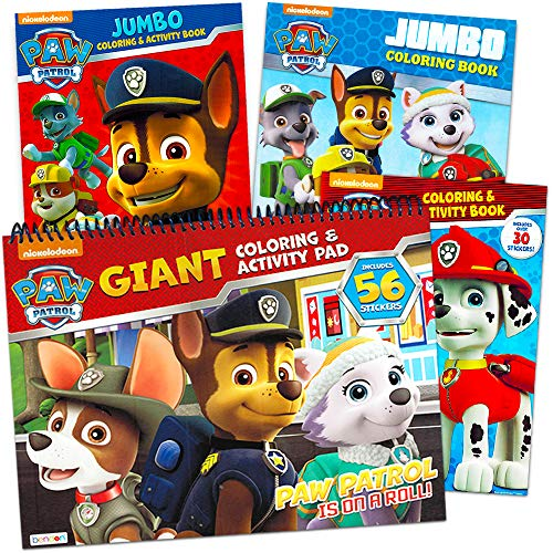 PAW Patrol Coloring and Activity Book (Set of 4)