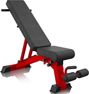 YouTen Adjustable 9 Positions Incline Decline Sit Up Bench for Abs Exercise, Handles for Dragon Flag, Weight Capacity Rated Full Body Workout Foldable Bench for Dragon Flag