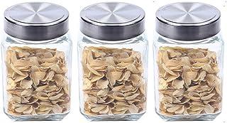 BBGSFDC Verre Spice Botte Bouteilles Transparent Alimentaire Conteneurs Conteneurs Organisation de la Cuisine pour Tea Sug...