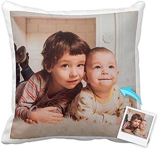 Cojines Personalizados con Fotos y Texto | Tejido Tacto algodón | Relleno Incluido | Tamaño 35x35 cm