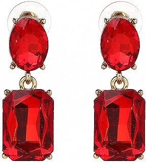Vintage Statement Drop Dangle Earring Shiny Crystal Stud Earrings Women Party Jewelry