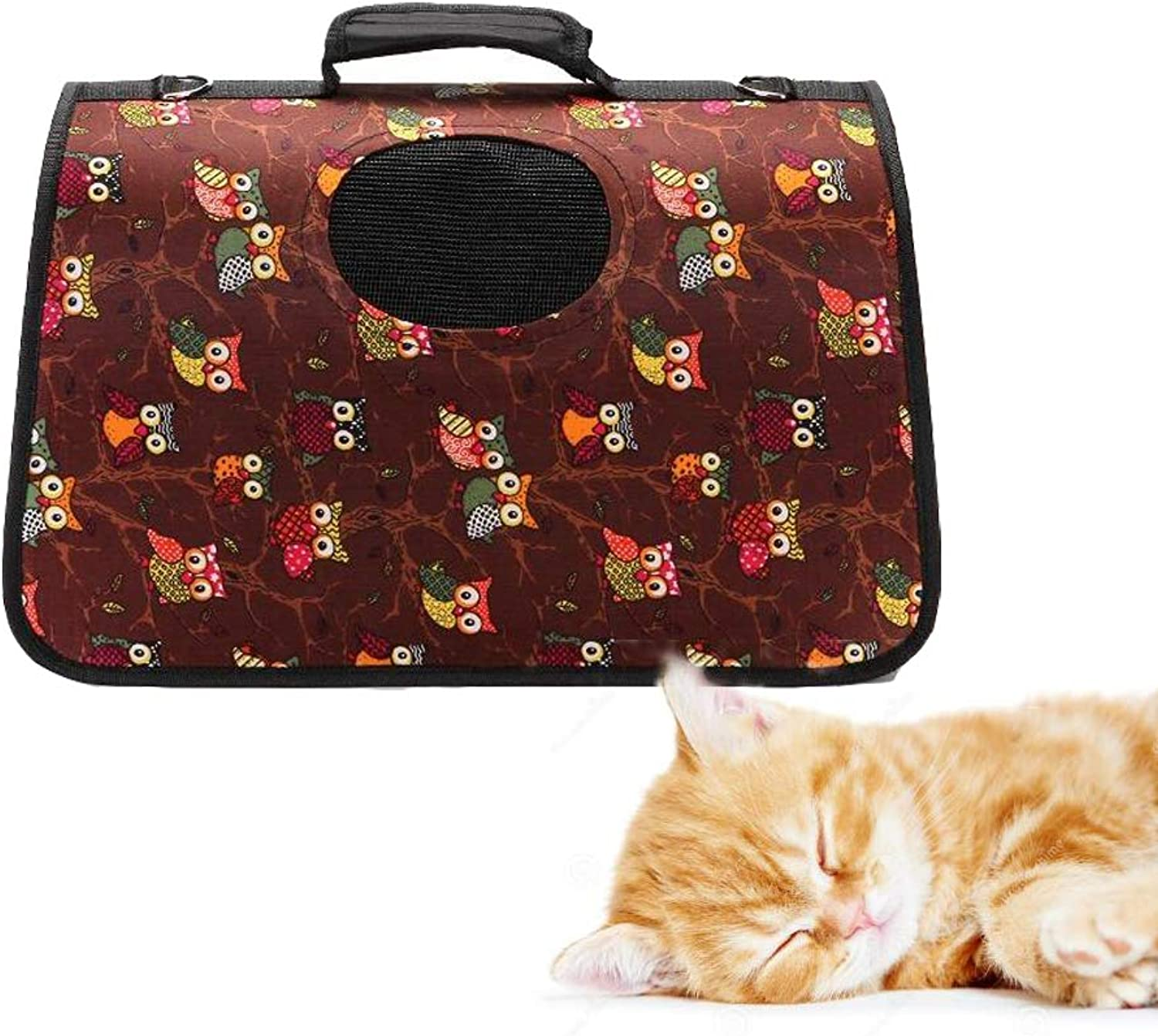 Collapsible Pet Bag, Waterproof Portable Pet Backpack, Carrying Cats, Dogs, Small Pets,A,S