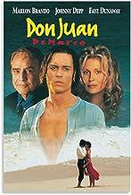 DJNGN Don Juan Demarco (1994) Poster Mode Retro Nostalgische Stijl Moderne Home Poster Collecties Cafe Restaurant 12×18inc...