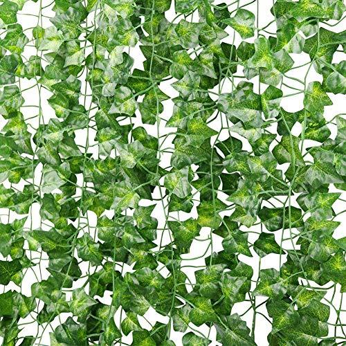 Plantas Hiedra Artificial (24Pcsx2.2M) Hojas De Vid Artificial Enredadera Guirnalda Decorativa Para Decoración Hogar Escalera Ventana Balcón Valla Jardín Boda Mesa Fiesta Interior Y Exterior