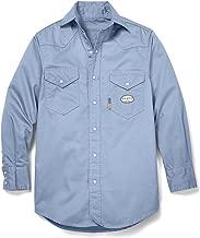Rasco FR Work Blue Western Shirt with Snaps 7.5 oz - WR753