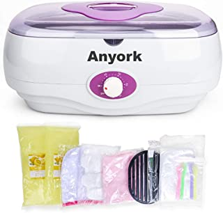 Paraffin Wax Machine for Hand and Feet, Anyork Paraffin Bath Paraffin Wax Warmer with Paraffin Wax Liners Mitts Silicone Brush for Smooth and Soft Skin