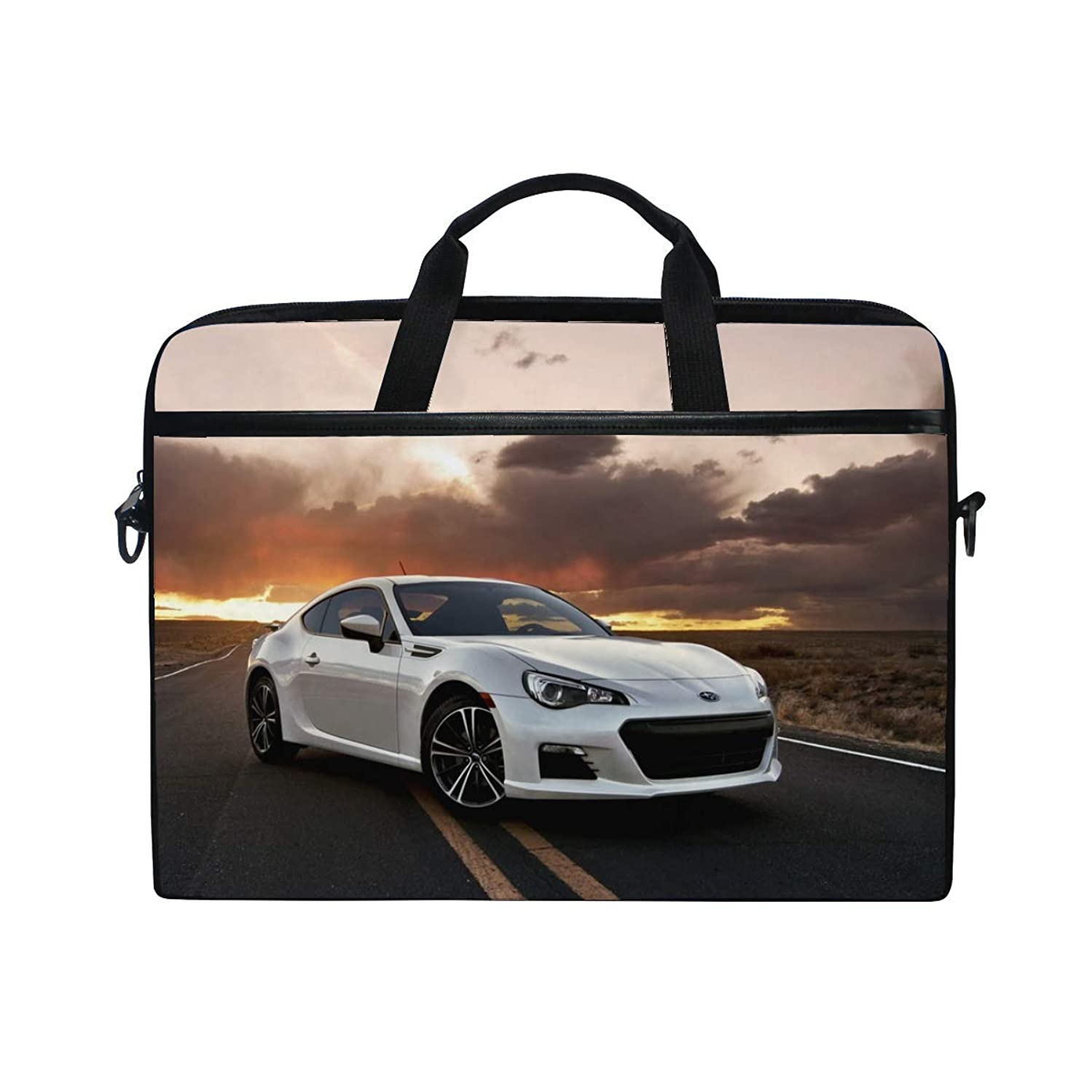 Subaru BRZ Car Road Laptop Shoulder Messenger Bag Case Sleeve for 14 Inch to 15.6 Inch with Adjustable Notebook Shoulder Strap