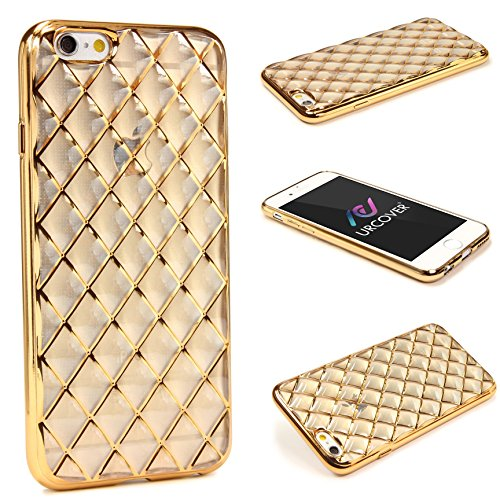Urcover Quilted Diamond Style kompatibel mit Apple iPhone 6 / 6s Schutzhülle aus hochwertigem TPU Silikon Hülle Hülle Cover Schale Champagner Gold