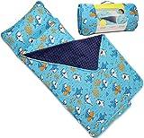 (Shark) - Kids Nap Mat with Removable Pillow - Soft, Lightweight Mats, Easy