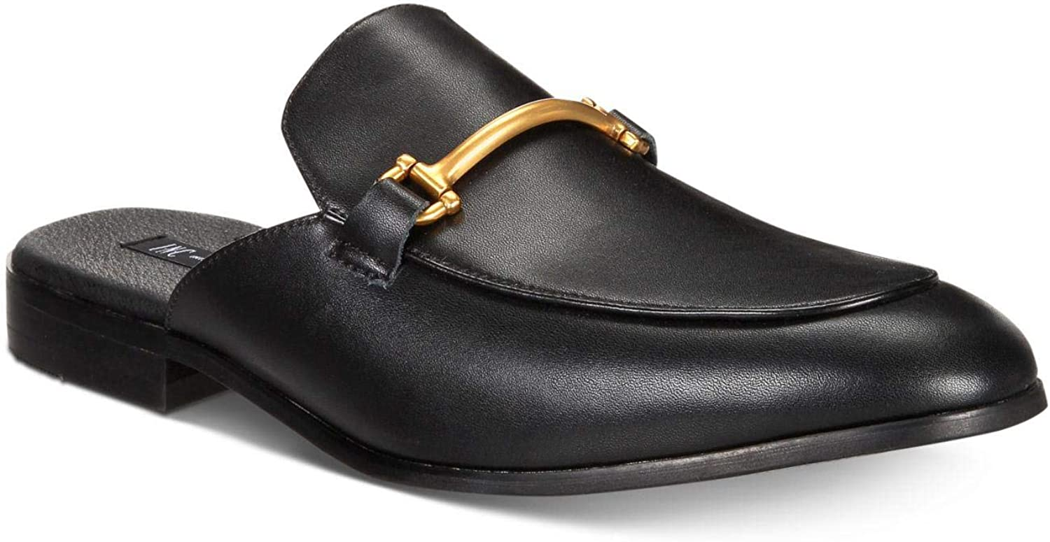 INC International Concepts Mens Blaze Leather Slip On Dress Mules