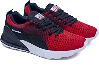 ASIAN Men's Drag-02 Men's Knitted Sports Sneakers,Ultra-Lightweight, Breathable, Walking, Fabric Running Shoes