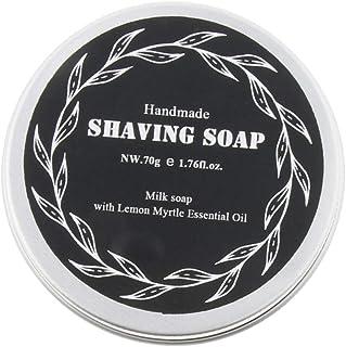 Prettyia High Moisturizing Home Travel Men's Beard Moustache Shaving Cream Soap 70g