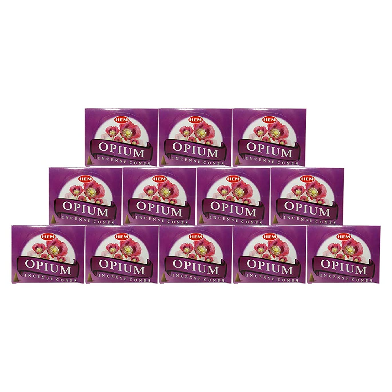 バーゲン日曜日柔らかさHEM(ヘム) オピウム香 コーンタイプ OPIUM CORN 12箱セット