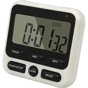 Vosarea DC101 Timer di Cottura Digitale da Cucina Count Down Up Clock Allarme Forte con Ampio Display LCD con Batteria