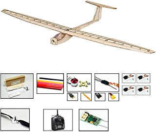 Balsa Wood Radio Remote Controlled Electric Glider Griffin Aeroplane Laser Cut Kit Wingspan 1550mm Un-Assembled for Adults;Need to Build by DW Hobby (F1504C-R3)