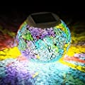 Solar Powered Color Changing Mosaic Glass Ball Led Lights ...
