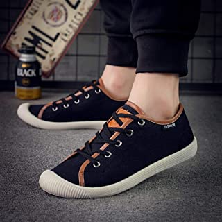 2019 Spring and Summer New Casual Men and Women Shoes Korean Student Shoes Outdoor Shoes Fashion Canvas Shoes (Color : Black, Size : 44)