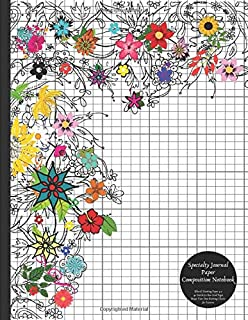 Specialty Journal Paper Composition Notebook (Floral) Knitting Paper 4:5 40 Stitch / 50 Row Grid Pages Design Your Own Knitting Charts for Patterns: Blank Graphs Books for Knit Designs