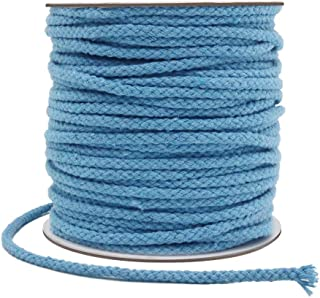 Tenn Well 5mm Macrame Cord, 165Feet Braided Cotton Macrame Rope for Plant Hangers Wall Hangings Dream Catchers DIY Crafts (Blue)