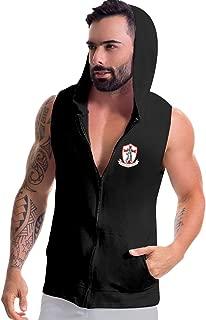 in Hoc Signo Vinces Men's Sleeveless Hoodie Gym Bodybuilding Tank Tops Hip Hop Hoodies Shirts
