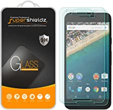 Supershieldz (2 Pack) for (Google) LG Nexus 5X Tempered Glass Screen Protector, 0.33mm, Anti Scratch, Bubble Free