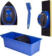 YUKAKI Paint Pad Set More Accurate Painting Tool with Paint Tray Paint Edger and Corner Cutter Deck Stain Pad