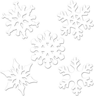 Beistle 22643 Mini Snowflake Cutouts, 4
