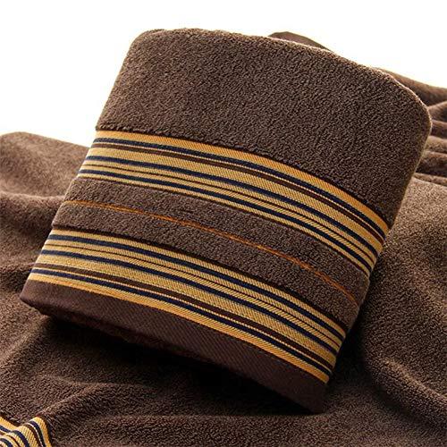 XNBCD gestreepte grote badhanddoek 70 * 140Cm zacht katoen zwemmen strandhanddoek blauw bruin grijs wassen handdoek
