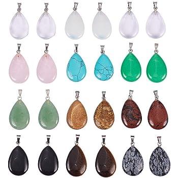 OeyeO Lot de 50 pendentifs en pierre irr/éguli/ère pour fabrication de bijoux