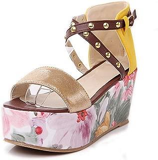 BalaMasa Womens ASL06910 Pu Platform Heels