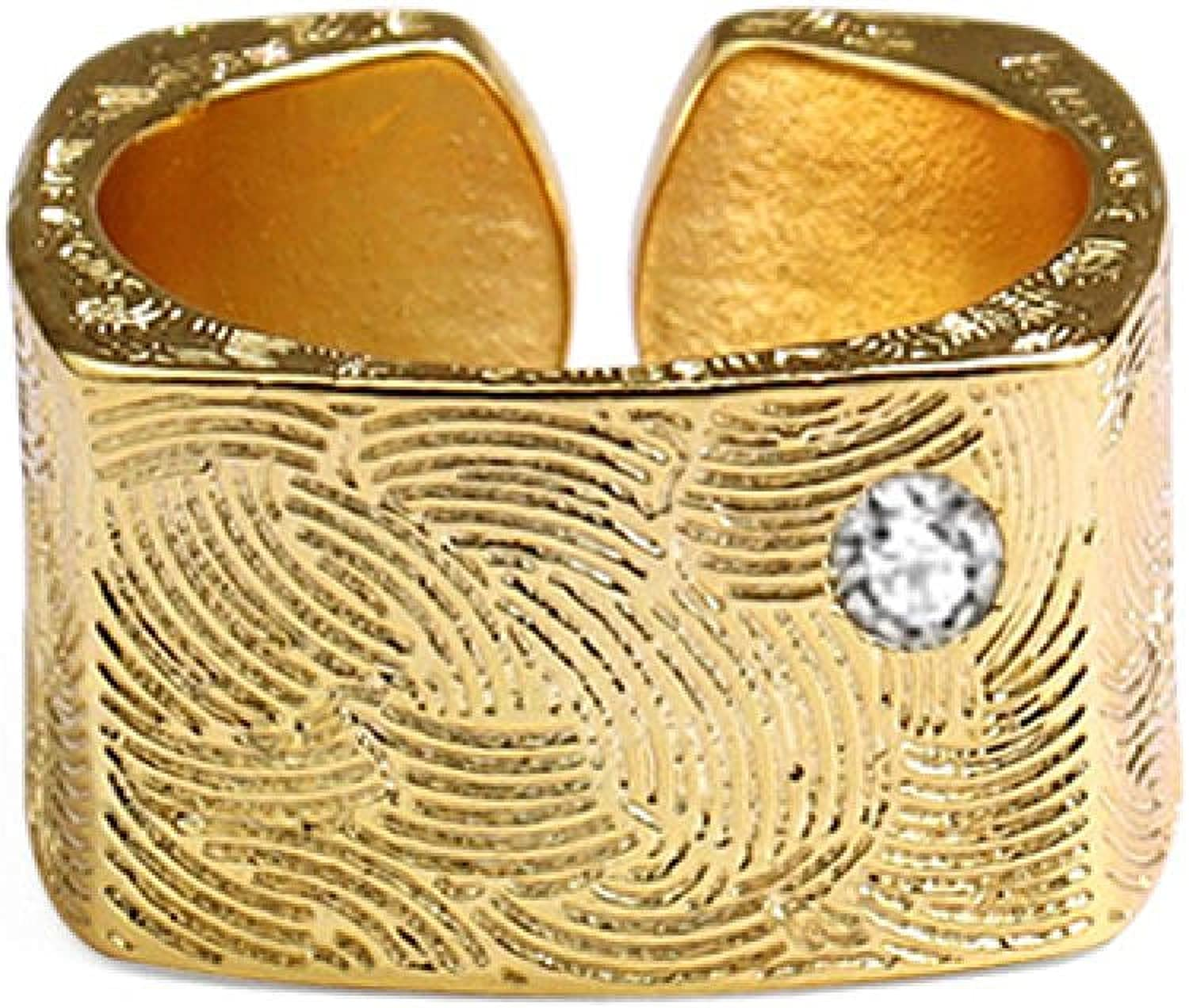 Rings For Oklahoma City Mall Women Men Irregular Geometric Square Ring Gold Open Pa Max 77% OFF