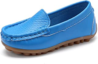 d220a495522 L-RUN Boys Girls Leather Loafer Shoes Durable for Preschool Newly Walking  Toddlers