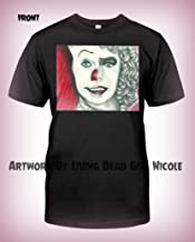 Portrait T-Shirt_Penny Furter_ - Stephen King IT Pennywise Franken Furter Rocky Horror Picture Show Tim Curry