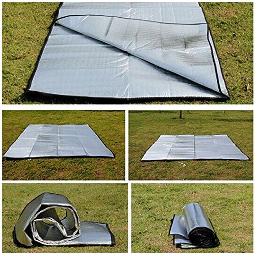 ECYC ImperméAble à l'eau Feuille D'Aluminium EVA Camping Mat Picnic Beach Matelas en Plein Air, 1x2M