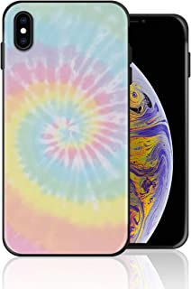 Silicone Case for iPhone 8 Plus and iPhone 7 Plus, Pastel Tie Dye Design Printed Phone Case Full Body Protection Shockproof Anti-Scratch Drop Protection Cover