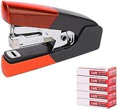 Desktop Staplers Office Stationary Set (Paper Staplers,Staple) School Supplies Staples,Uses 25 and 24/6 Staples Heavy-Duty Staplers (Color : Orange)